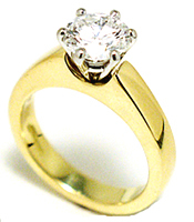 Jacques 18 Kt Yellow Gold Diamond Solitaire